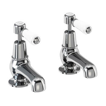 Traditional Victorian standard 3 Hole Basin Mixer Taps With a lever Handle