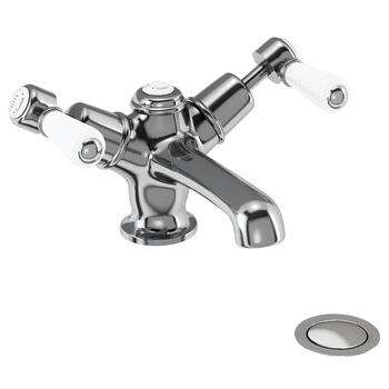 Traditional Edwardian standard Twin Basin Taps (Pairs of taps) With a lever Handle