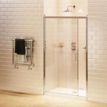 Burlington Sliding Shower Door & Side Panel - 8480