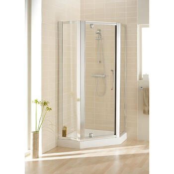 Lakes Silver Framed Pentagon Side Panel Pack (x2) X 1850 Designer Bathroom