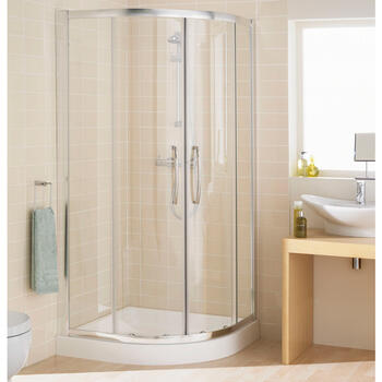 Lakes Silver Semi Framed Quadrant Shower Enclosure - 8540