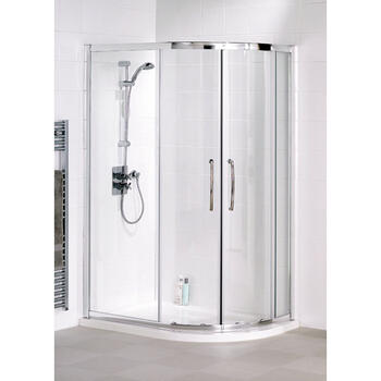 White Semi Framed Quadrant Shower Cubicle - 8553