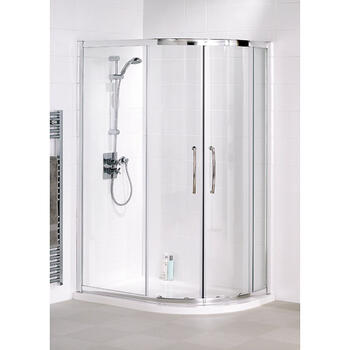 Lakes White Semi Framed Offset Quadrant Shower Cubicle High Quality Bathroom