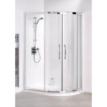 Lakes White Semi Framed Offset Quadrant Shower Cubicle - 8554
