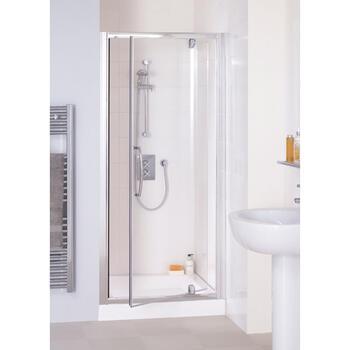 Lakes White Semi Framed Pivot Shower Door - 8556