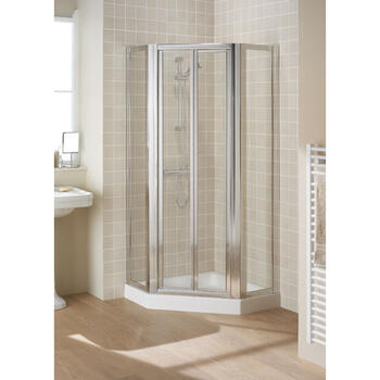 White Semi Framed Pentagon Side Panel Pack (x2) 350 Modern Bathroom