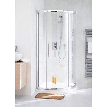 Shower Cubicle White Semi Framed Curved Corner Slider 900 And Enclosure Base Designer Bathroom