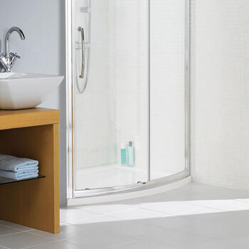 Bow Fronted  Rectangular Bathroom Tray
