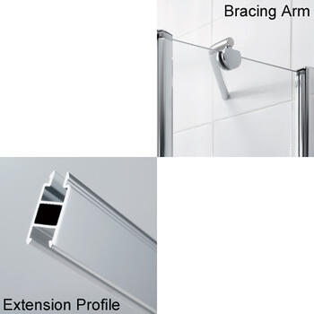 Lakes ExtensIon Profiles And Shower Bracing Kits Fixings and Fixtures