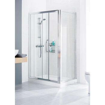 Lakes White Framed Shower Door Side Panel Ellegant Bathroom