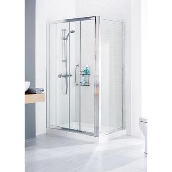 Lakes White Framed Shower Door Side Panel - 8566