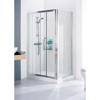 Lakes Silver Framed Shower Door Side Panel Fashionable Bathroom