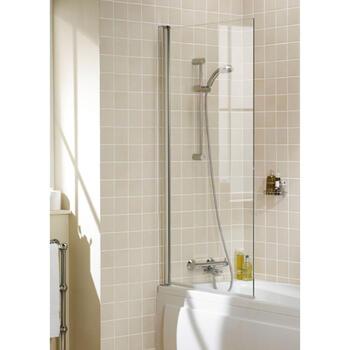 Bath Screen White Single Square