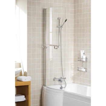 Bath Screen White Arc High Quality Bathroom