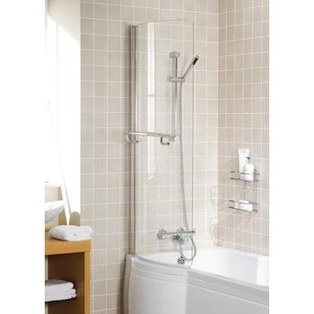 Bathscreen White Arc - 8572