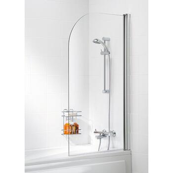 Bathscreen Silver Curved - 8574