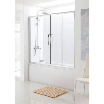 Bathscreen Silver Over Bath Sliding Door - 8579