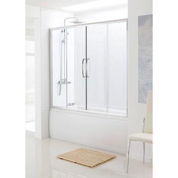 Bathscreen Silver Over Bath Side Panel Modern Bathroom Screen