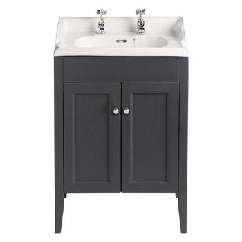 Classic Vanity Unit & Dorchester Basin Graphite curved High Quality Bathroom