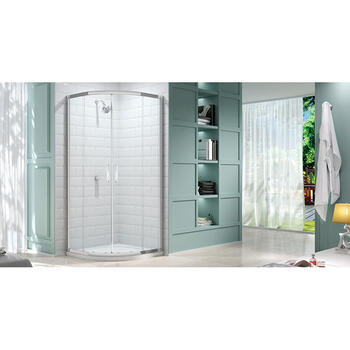 Merlyn 8 Series 800 2 Door Quadrant Bathroom Shower Cubicle Amazing Value Bathroom