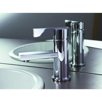 Modern contemporary SILVER standard Basin tap With a lever Handle