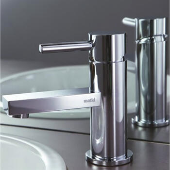Modern luxurious SILVER standard 3 Hole Basin Mixer Taps With a lever Handle