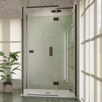 Ic1290 IllusIon Corner Hinged Shower Enclosure Ellegant Stylish Bathroom Accessory