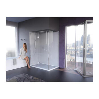 Ict900 Gg IllusIon Corner Hinged Shower Enclosure for Stylish Bathroom