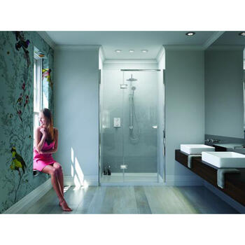 Ir900 Gg IllusIon Recess Hinged Shower Enclosure for Designer Bathroom