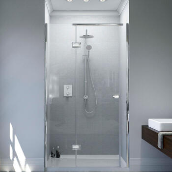 Matki Hinged Shower Door Irt1280 Gg  IllusIon Recess With Tray Stylish Bathroom