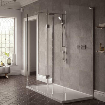 NWST1580TB Easy to Install Walk In Shower Enclosure for Contemporary Bathroom