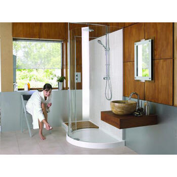WIC1706 Walk In Frame-less Curved Corner Shower for Stylish Bathroom