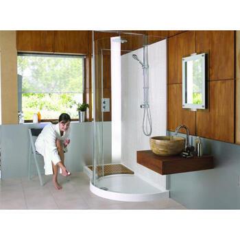 WIC1706 Walk In Frame-less Curved Corner Shower for Stylish Bathroom