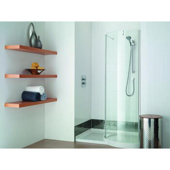 WIR1200 Easy to Install Walk In Curved Recess Shower Ideal for Contemporary Bathroom