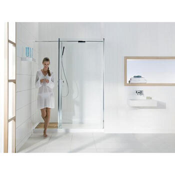 WRD1250 Easy to Install Elegant Square Design Bathroom Walk In Recess Shower Enclosure