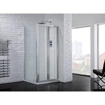 AQuadart Venturi 6 Bifold Door 760 Showe Enclosure Fashionable Bathroom