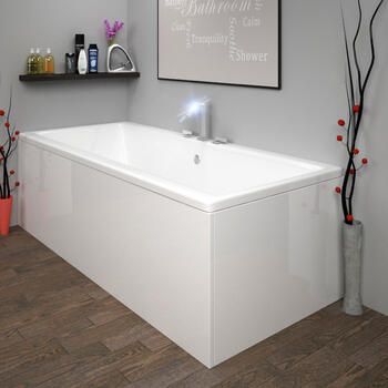 ACRYLIC BATH PANEL WHITE
