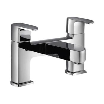 Alive 2 Hole H Type Bath Filler Stainless Steel and chrome Finish Wall Mounted Tap