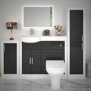 Apollo Bathroom Fitted Furniture Set Black - 174538