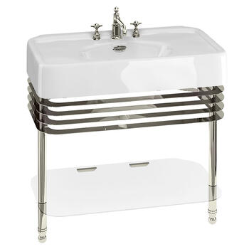 Arcade  900mm Basin & Basin Stand Rectangle Modern