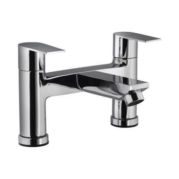 Aria 2 Hole H Type Bath Mixer Filler Chrome Lever Bathroom Spout Tap