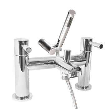 timeless Modern CHROME NULL bath mixer taps with shower head round Handle