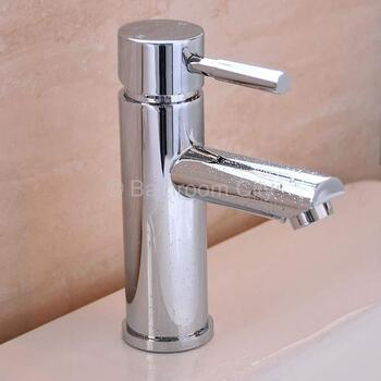 Modern contemporary CHROME standard Basin tap With a lever Handle