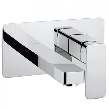 Atoll Basin 2 Hole Set Wall Mounted Designer lever standard Taps