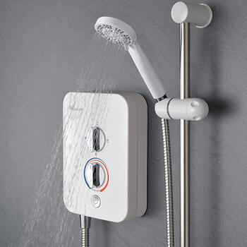 Bc Electric Shower For Modern Bathroom White 8.5Kw
