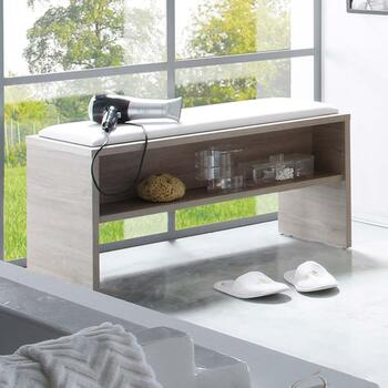 Balto Seating Bench with Storage Shelf