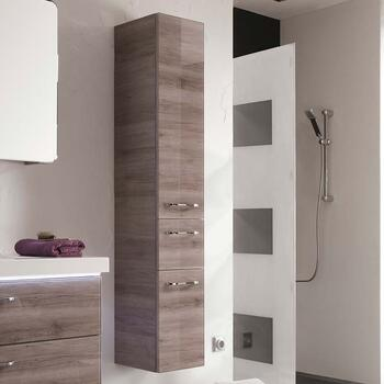 Balto Tall Boy Bathroom Storage Cabinet 2 Doors 1 Drawer
