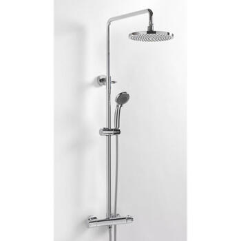 Bc Deluxe Exposed Thermostatic Bathroom Shower Riser Set Round Head