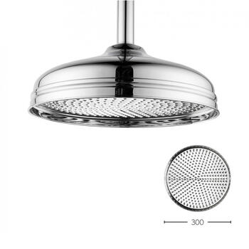 Belgravia 12 inch Shower Head Chrome, Round Head