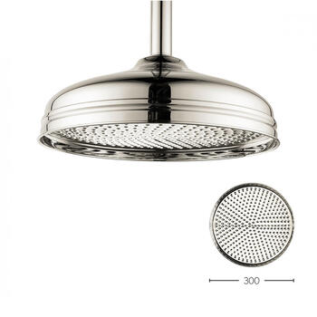 Belgravia 12 inch Shower Head Nickel, Round Head